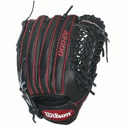black and red A2000 GG47 GM Baseball Glove fits