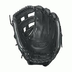 Fast Pitch Softball Glove. 12 Inches. The black and gunmetal grey A2000 FP12 SS was developed