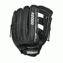 ilson A2000 IF SS Fast Pitch Softball Glove. 12 Inches. The black an