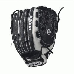 S - 12.5 Wilson A2000 V125 Super Skin 12.5 Outfield Fastpitch GloveA2000 V125 12.5 Outfield Fast