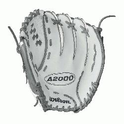WS - 12.5 Wilson A2000 V125 White Super Skin 12.5 Outfield Fastpitch