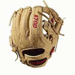 Baseball glove H-Web design Blonde Full-Grain leat