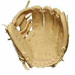 11.5 inch Baseball glove H-Web design Blonde Full-Grain leather. The all-new A700 line of Wilson gl
