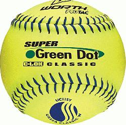h softballs have red stitching and are approved for play in the ASA with a .52